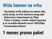 Wide banner na vrhu sajta